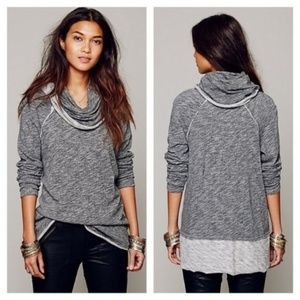 Free People Pullover Beach Cocoon Grey 2 Body Corp